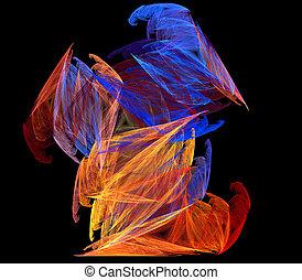 grafické pozadí., barva, umění, abstraktní