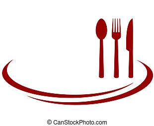 grafické pozadí, jako, restaurace