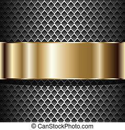 grafické pozadí, kovový