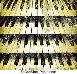 grafické pozadí, piano klávesy