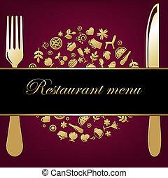 grafické pozadí, restaurace