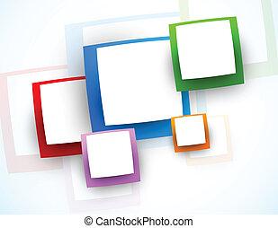 grafické pozadí, s, čtverhran