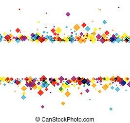 grafické pozadí, s, barva, rhombs.