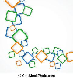 grafické pozadí, s, barvitý, čtverhran