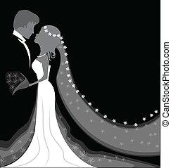 grafické pozadí, svatba