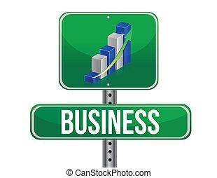 grafico, -, affari firmano