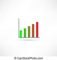 grafico, affari