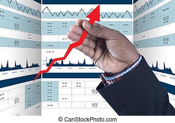grafico, analisi mercato, casato