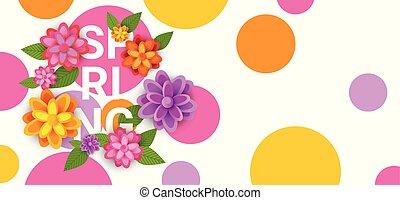 grafico, colorito, primavera, disegno, fondo, floreale, fiori bianchi