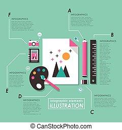 grafico, concetto, disegno