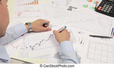 grafico, di, affari, budget
