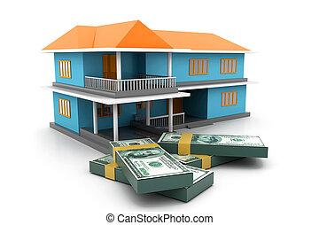 grafico, di, il, alloggio, mercato