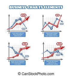 grafico, elementi, affari, infographics