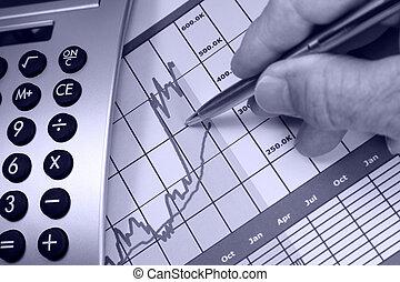 grafico, finanziario, su, mercati, andare