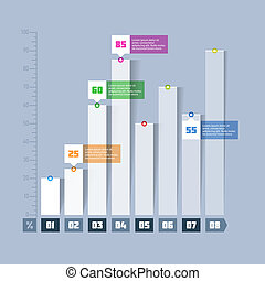 grafico, grafico, sbarra, infographics