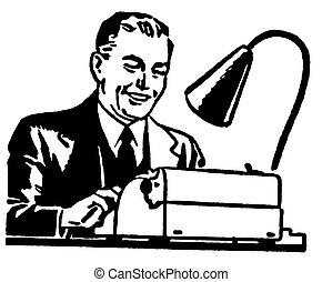 grafico, lavorativo, affari, duro, illustrazione, versione,...