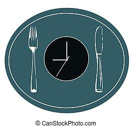 grafico, mangiare, tempo