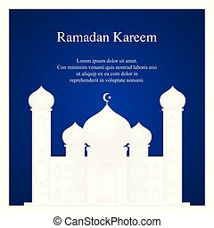grafico, moschea, illustrazione