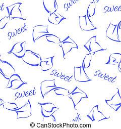 grafico, pattern., seamless, caramella, vettore, illustrazione