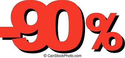 grafico, percento, vendita, illustrazione, alto, vettore, 90, qualità