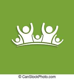grafico, persone, logo., vettore, disegno, amicizia