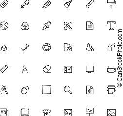 grafico, progetto serie, icona