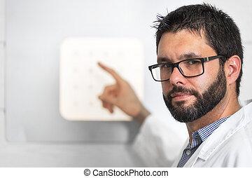 grafico, prova, lettera, dottore, occhio, check., ottico, condotta