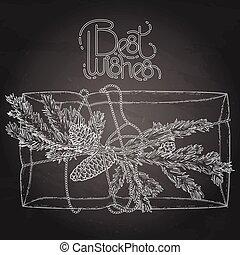 grafico, regalo, pacchetto