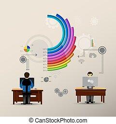 grafico, salita, colorito, colonne