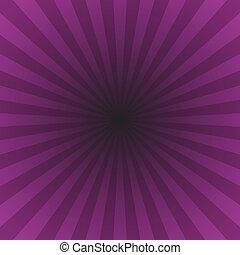 grafico, scoppio stella, viola, dinamico, astratto, -, ipnotico, pendenza, raggi, fondo, radiale
