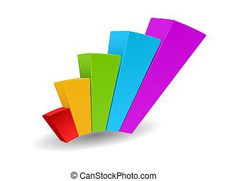 grafico, vettore, crescita, affari, progresso