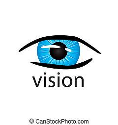 grafico, vettore, logotipo, occhio, primo piano