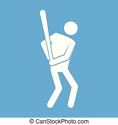 graficzny, figura, symbol, ilustracja, wektor, baseball, sport