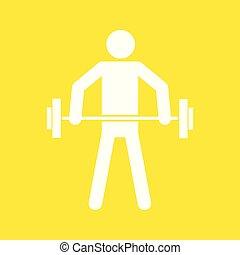 graficzny, figura, symbol, ilustracja, wektor, weightlifting, sport