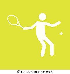 graficzny, figura, symbol, tenis, ilustracja, wektor, sport