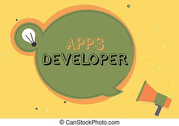 graficzny, handlowy, developer., artysta, fotografia, pokaz, apps, pisanie, eksperci, tekst, konceptualny, programista, ręka, analityk, software
