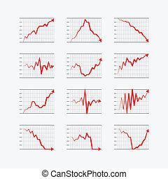 graficzny, handlowy, ratings, i, wykresy