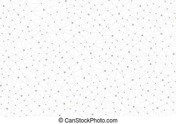 graficzny, illustration., dots., abstrakcyjny, wektor, związany, tło, geometryczna lina, twój, design.