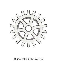 graficzny, przybory, maszyna, wektor, część, icon., design.