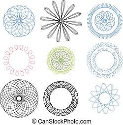 graficzny, spirala, elementy