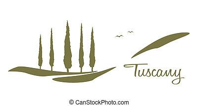 graficzny, tuscany