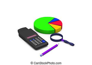 grafiek, analyzing, zakelijk