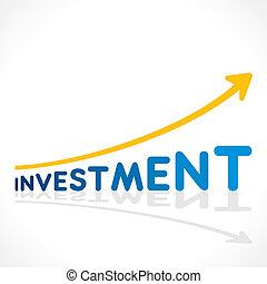 grafiek, creatief, investering, woord