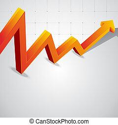 grafiek, economisch, vector, bocht, achtergrond
