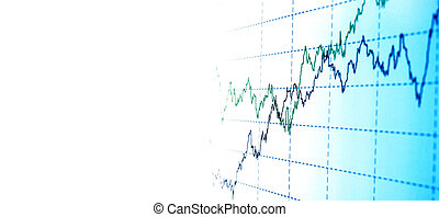 grafiek, financieel