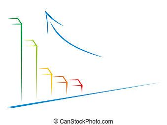 grafiek, groei