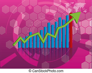 grafiek, groei, investering