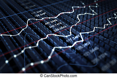 grafiek, markt, achtergrond, liggen