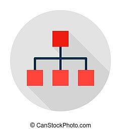grafiek, pictogram, classificatie, cirkel