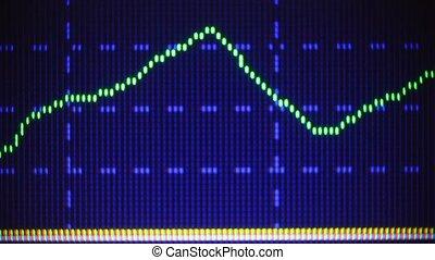 grafiek, scherm, computer gegevens